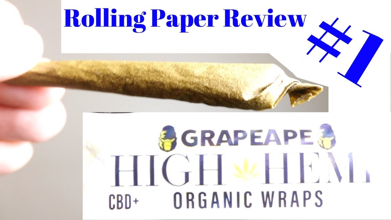 CBD infused High Hemp Rolling Paper Review (ep. 1)