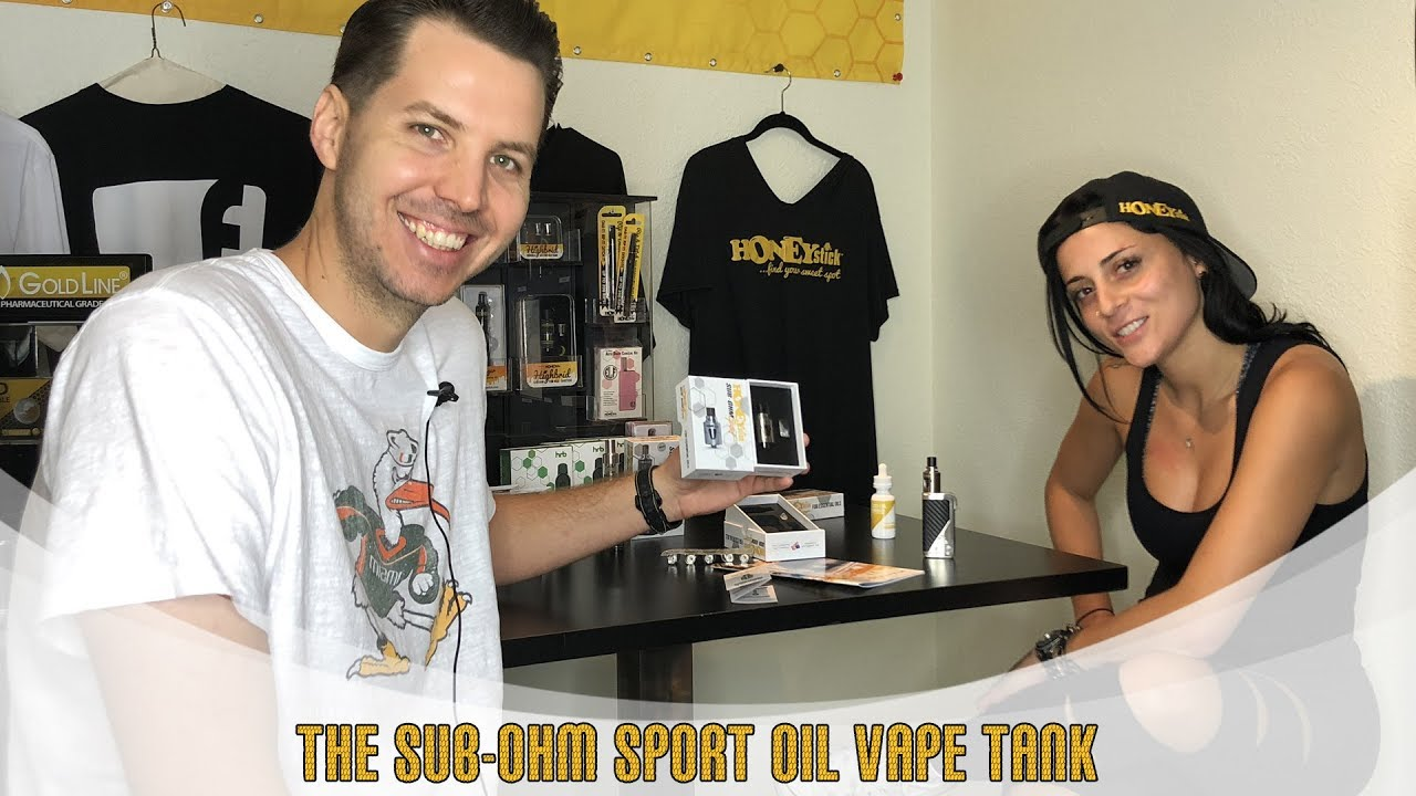 NEWEST Sub-Ohm SPORT Vape Tank for Thick Oils and CBD by HoneyStick 510 Thread | How to use |