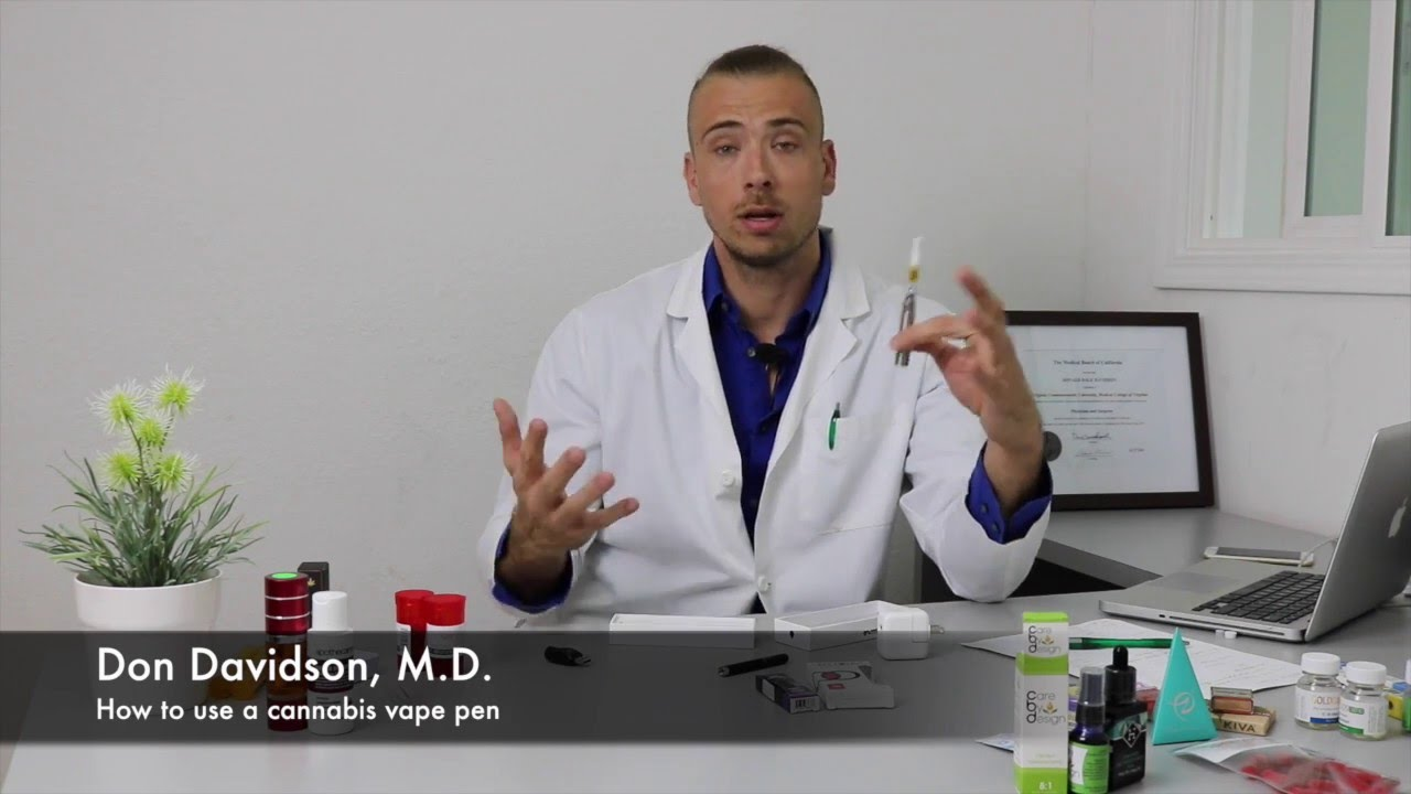 How to use a cannabis vape pen with Dr. D