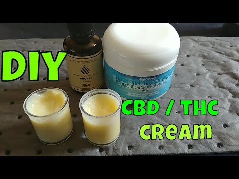 Easy DIY CBD THC Infused Cannabis Cream |  Legal CBD Pain Relief Topical